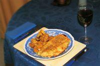 Käseüberbackene Putenschnitzel mit Ingwerkartoffeln